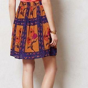 Maeve Persicum Beaded Floral Skirt